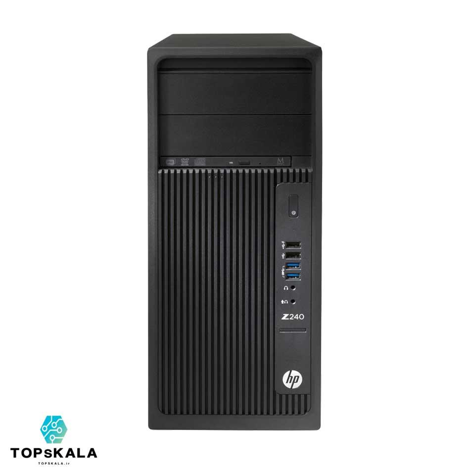 کامپیوتر استوک اچ پی مدل HP WorkStation Z240 - پردازنده Intel Core i7 6700 با گرافیک Nvidia GT 730
