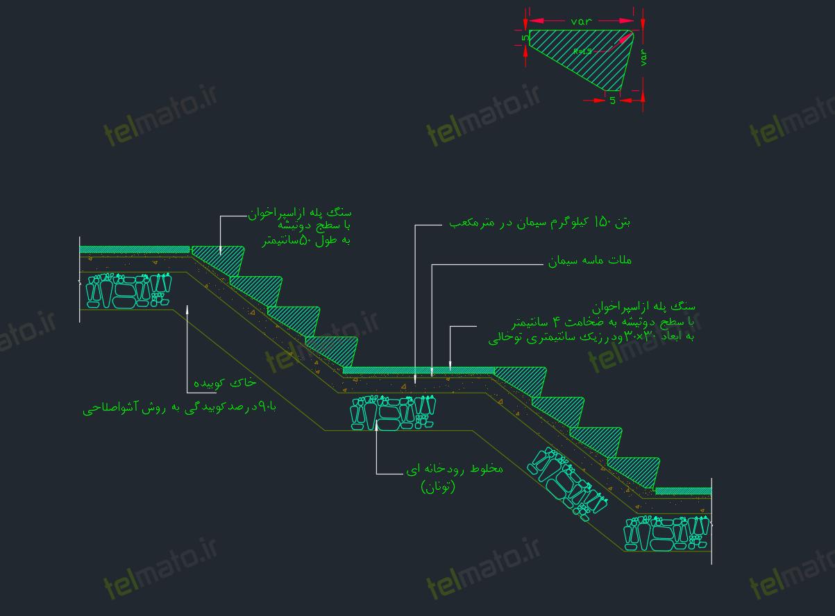 دانلود کامل نقشه و دتایل اجرایی جزئیات محوطه سازی با فرمت اتوکد DWG + فایل آماده