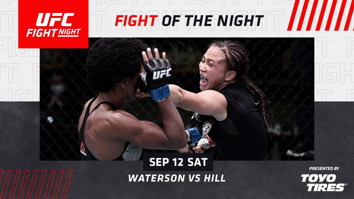 نتایج رویداد : UFC Fight Night 177: Waterson vs. Hill