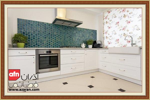 استفاده از کاشی بعنوان دیوارپوش سنتی برای آشپزخانه