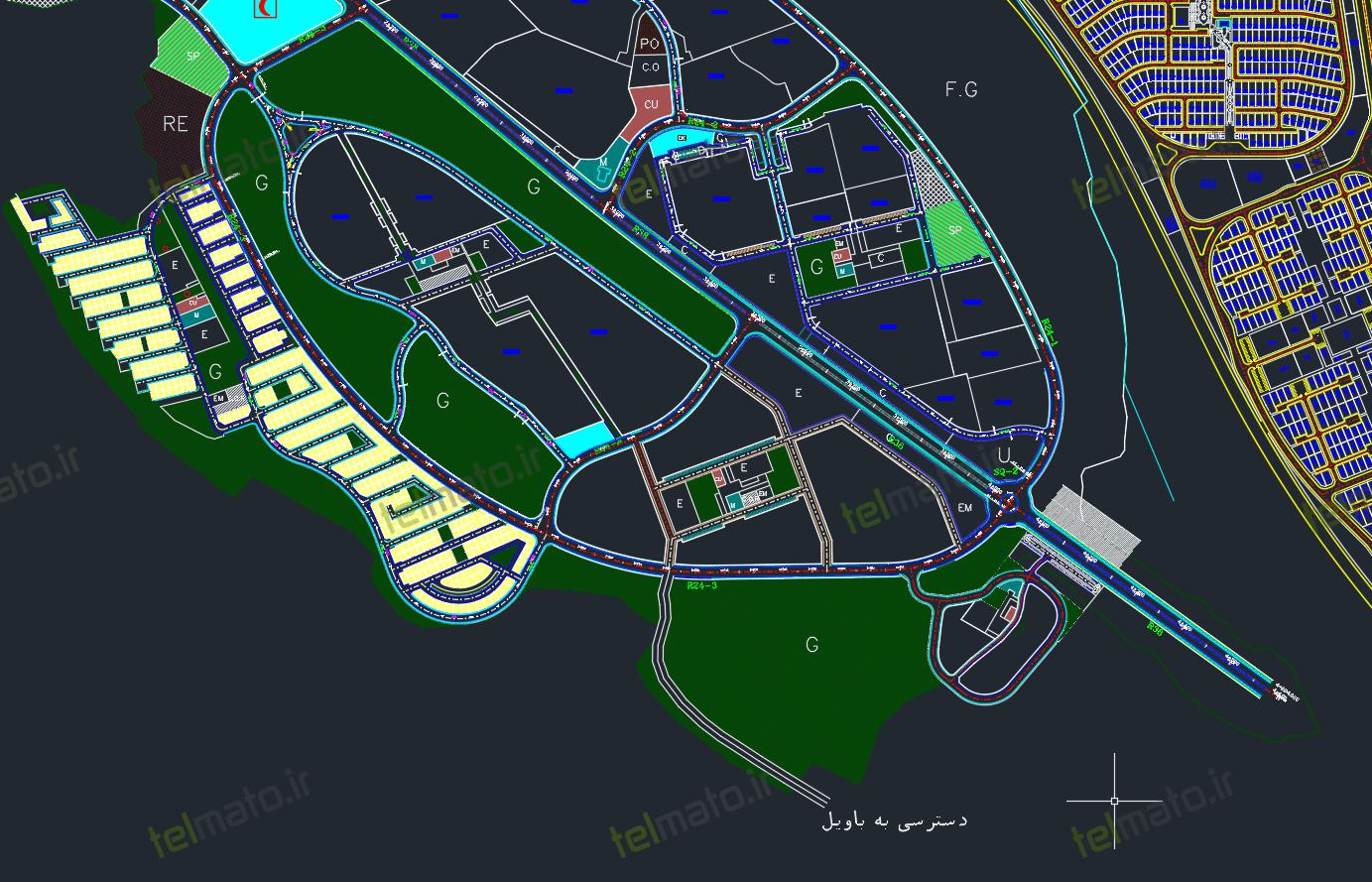 دانلود نقشه کامل اتوکد شهر جدید سهند تبریز با فرمت DWG + فایل autocad