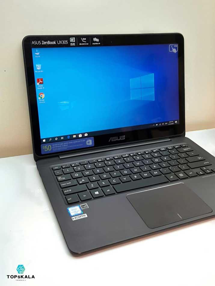 لپ تاپ استوک ایسوس مدل ASUS UX305CA Touch  با مشخصات Intel Core m3 6y30 - intel HD 515 دارای مهلت تست و گارانتی رایگان/ محصول ایسوس سال 2018 - 2019