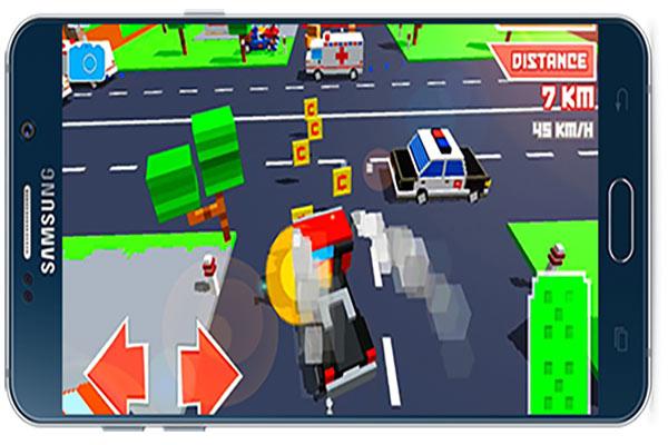 دانلود بازی اندروید Crossy Brakes : Blocky Toon Racer