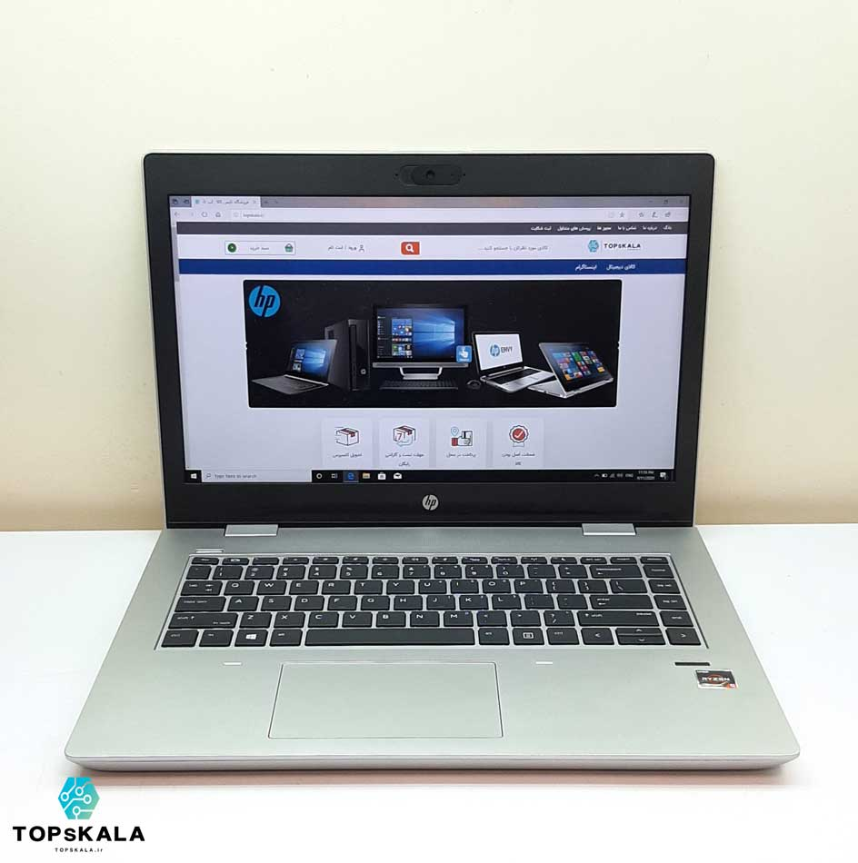 لپ تاپ استوک اچ پی مدل HP ProBook 645 G4 با مشخصات AMD Ryzen 5 Pro 2500U - AMD RX VEGA 8 دارای مهلت تست و گارانتی رایگان/ محصول اچ پی سال 2018 - 2019
