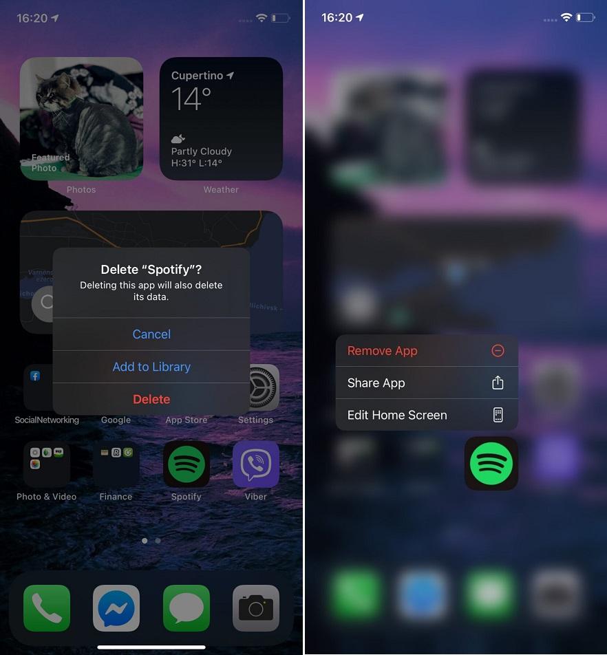 ترفندهای iOS 14 / انتقال برنامه ها به اپ لایبرری