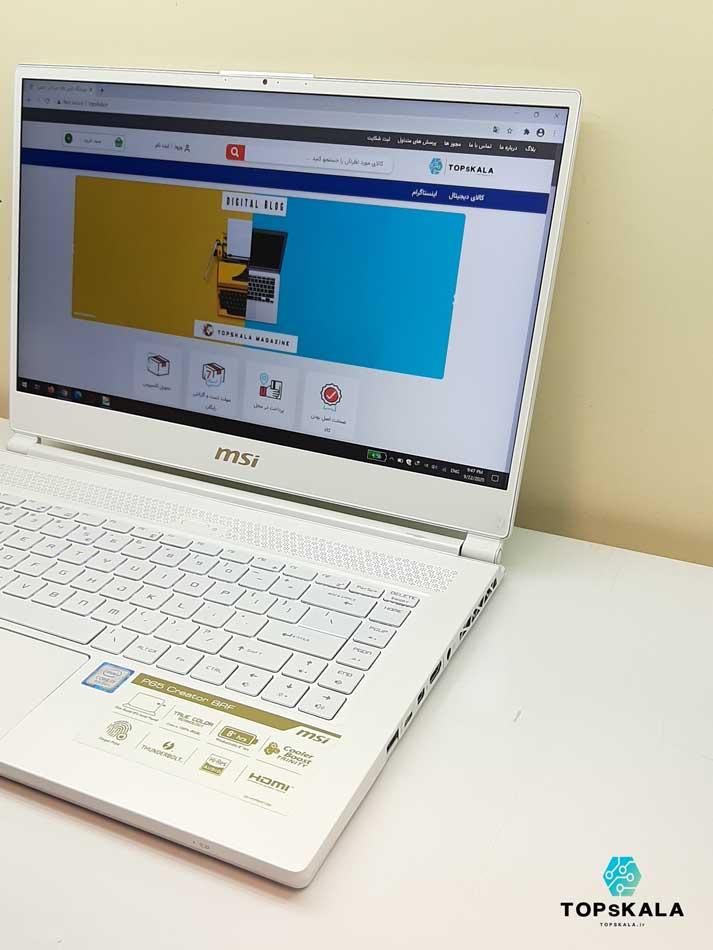 خرید لپ تاپ استوک ام اس آی مدل MSI P65 Perstige Cereator 8RF با مشخصات Intel Core I7 8750H - Nvidia GTX 1070 دارای مهلت تست و گارانتی رایگان/ محصول ام اس آی سال 2017 - 2018