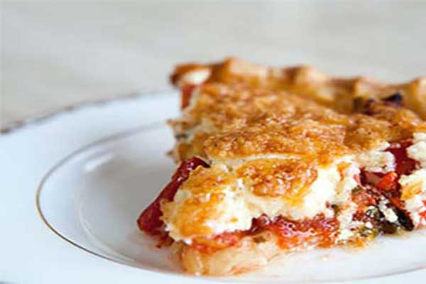 پای گوجه فرنگی و پنیر